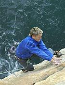 El joven escalador catalán Edu Marín. ~ desnivelpress.com