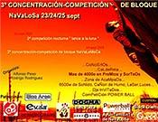 Cartel oficial de la edición 2005 de Navalameca, concetración bloquera (y masiva) en Navalosa, Ávila.Foto: climbingconcept.com