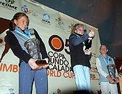 Angela Eiter celebrando su sexta victoria consecutiva. - Foto: D. Munilla/Top30.es
