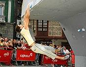 Pablo Barbero en la final del pasado Campeonato de España de bloque. Ganó entonces, pero ha sido descalificado por irregularidades en su inscripción. Foto: David Munilla / Top30