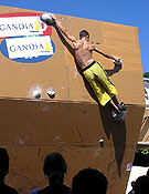 Eric durante el pasado el Campeonato del bloque de la Comunitat Valenciana, disputado en Gandía. - Foto: Ignasi Tarrazona
