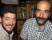 Guillermo Mateo y Miguel A. Vidal, en la Librería Desnivel. <br>Foto: desnivelpress.com