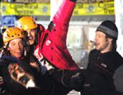 Los tres ganadores de Val Daone, Anthamatten, Berger y Klammer.- Foto: Giulio Malfer