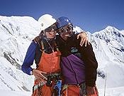 Chantal Mauduit y el sherpa Ang Tsering en el Annapurna. - Foto: Nacho Orviz