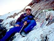 Pierre Béghin en la cara sur del Annapurna en 1992, donde falleció a causa de una caída. - Foto: Jean C. Lafaille