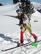 Javi Martín, que tuvo que abandonar tras romper un esquí.- Foto: fedme.es