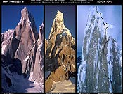 Croquis de El Arca de los Vientos (1.200 m, ABO), abierta por Alessandro Beltrami, Ermanno Salvaterra y Rolando Garibotti. Foto: Rolando Garibotti