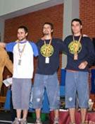 Los chicos ganadores en el Campeonato Universitario de Escalada 2006. - Foto: U. Politéccnica de Valencia