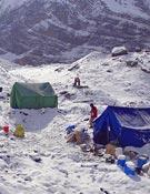 El campo base en el Dhaulaguiri.- Foto: Expedición Palentina Dhaulaguiri