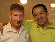 Iván Vallejo y Carlos Soria en Madrid. Foto: Desnivelpress.com