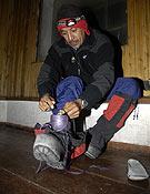 Iván Vallejo en un entrenamiento para subir al Himalaya.Foto: Desnivelpress.com
