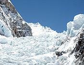 La cascada de hielo del Khumbu, en el Everest.- Foto: mallorcaadaltdetot.com