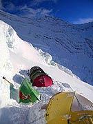 El Campo III en el Lhotse, donde está Simone Moro.- Foto: Simone Moro