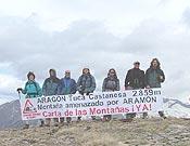 Una de las protestas en el Pirineo Aragonés, en el Pico Castanesa.- Foto: P. Def. Montañas Aragón