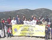 En Castilla León, se realizó la ascensión al Cabeza Líjar, en la sierra de Guadarrama.- Foto: Asociación Centaurea