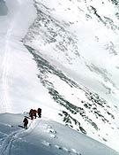Los gerundenses en su segundo asalto a cima, intento que han tenido que abandonar.- Foto: Expedición Pirineu de Girona