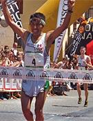 Ricardo Mejía cruzando la meta en Zegama.- Foto: buff.es
