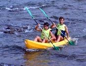 Kayak de mar en la VII edición del raid.- Foto: Raid Ciudad de Arucas