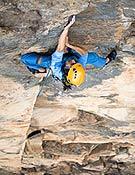 Josune en la Racs, en la Pared de la Cascada, Ordesa. - Foto: Rikar Otegi
