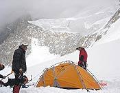 La expedición cívico militar de Mayencos de Jaca en el Campo III del G2.- Foto: scati.com/gasherbrumdos2006/