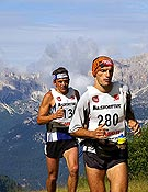 Altetas en la Dolomites Skyrace de la pasada edición Buff SkyRunner Series 2005. - Foto: Buffskyrunner.com