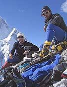 Carlos Pauner durante la expedición al Broad Peak, que abandona sin cima.- Foto: carlospauner.com