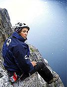 Roberta Nunes en Groenlandia, donde estuvo con la escaladora española Cecilia Buil.<br>Robertanunes.esp.br