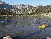 Hubo pruebas de todo tipo. En la imagen, la prueba de kayak.- Foto: Grandvalira Raid Inter-Empreses