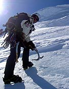 Los alpinistas iniciaron su aventura abriendo una nueva vía en el Monte Forel (3.544 metros). <br>Foto: proyecto 4V x-trem