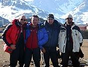 Los cuatro miembros que componen el grupo de alpinistas de este arriesgado proyecto.<br>Foto: proyecto 4V x-trem