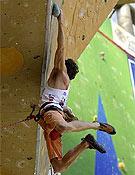 Patxi Usobiaga durante el pasado Master de Arco 2005. - Foto: rockmaster.com