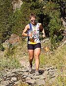 Ester Hernández, ganadora de la quinta prueba de las Buff Skyrunner World Series 2006 en Andorra.- Foto: Xavi Llongueras