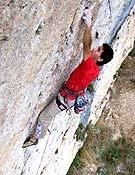 Ramonet en Suma0, su primer 8c a vista, en Cuenca. - Foto: Col. Ramón Julián