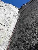 Lost in translation, primera ascensión en libre y desde el suelo de El Capi.- Foto: Col. Favresse