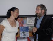 Rosa Fernández y César Pérez de Tudela, el pasado miércoles en la librería Desnivel - Foto: Sergio Prieto/ Desnivelpress