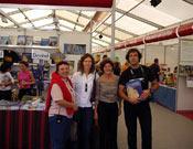Stand de Desnivel en la V Edición de la Feria del libro de montaña en Tavertet.