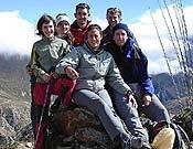 Edurne Pasaban y sus compañeros de expedición en el Shisha Pangma. - Foto: edurnepasaban.net
