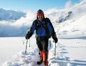 Iván Vallejo durante el trekking hacia el Campo 1 del Dhaulagiri.- Foto: colección Iván Vallejo