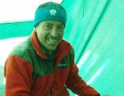 El alpinista ecuatoriano, desde su