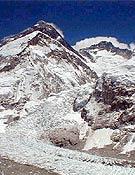 Vista de la cara sur del Everest, Lhotse, y la Cascada de Hielo del Khumbu.