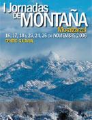 Cartel de la I Jornadas de Montaña de Moralzarzal, del 16 al 25 de noviembre.
