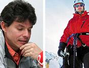 Foto de los dos alpinistas mexicanos, Andrés Delgado y Alfonso de la Parra.- Foto: Planeta y El Universal
