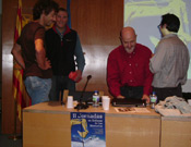 Juan Carlos Tamayo, Sebastián Álvaro, José Luis Mendieta y un montañero de la zona.<br>Foto: Juan Antolín