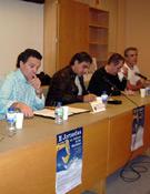 De izda a dcha: Juan Gavasa, Plácido Díez, José Luis Corral, J.L. Trasobares y  J.L. Martinez.<br>Foto: Juan Antolín