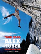 Cartel promocional del Tour Berghaus 2006 de Alex, presentando su renovada Opera Vertical 2. ~ desnivelpress.com