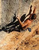 Chris Sharma en La Rambla Original, 9a+. <br>Foto: Evrard Wendenbaum