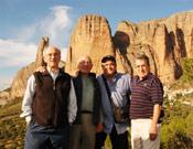 Anglada, Cerdà, Gallego y Guillamón juntos, en Riglos, Huesca.- Foto: desnivelpress.com