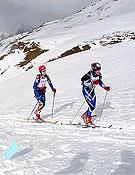 Dos participantes del Campeonato M.B.A como primera prueba del Trofeo Villa de Benasque.- Foto: Aramon Cerler