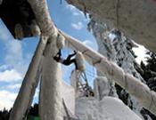Ésta era una de las estructuras de hielo de la última prueba del Mundial del año pasado, en Busteni (Rumanía).- Foto: Harold Berger