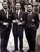 De izquierda a derecha, Jordi Pons, Anglada y Guillamón. - Foto: Col. J. Anglada.